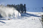 Snowmaking Spraying Snow