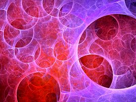 picture of higgs boson  - Multiverse bubbles fractal computer generated abstract background - JPG