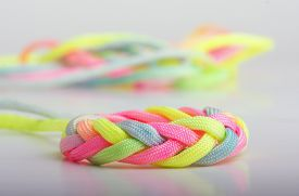 picture of paracord  - Paracord braided into a decorative knot - JPG