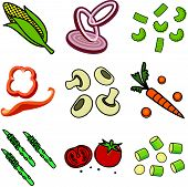 stock photo of green bean  - Nine images of different foods  - JPG