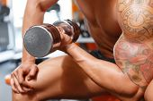stock photo of weight lifter  - Heavy metal - JPG