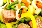 pic of fried onion  - Meat with vegetables  - JPG