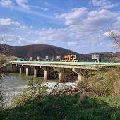 image of dam  - mures river romania mintia dam general view - JPG