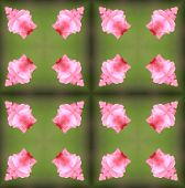 stock photo of parallelepiped  - background seamless pattern made from piece of flower in vintage style created from filter technique - JPG