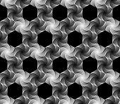 picture of hexagon pattern  - Design seamless monochrome hexagonal geometrical pattern - JPG