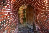 image of martello  - A doorway leads to the interior of an old fort in Key West - JPG
