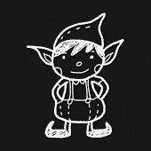 pic of elf  - Christmas Elf Doodle - JPG