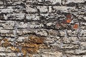 picture of stonewalled  - Antique natural stonewall of an old fortress - JPG