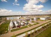 foto of petroleum  - Huge petroleum factory and safe big storage - JPG