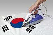 picture of iron star  - Steam iron for smooth out the wrinkles of Flag from South Korea - JPG