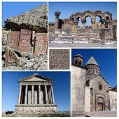 picture of armenia  - Collage of popular Armenia touristic landmarks unesco heritage  - JPG