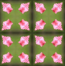 foto of parallelepiped  - background seamless pattern made from piece of flower in vintage style created from filter technique - JPG