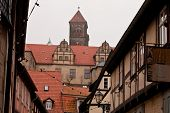 Quedlinburg old town homes and castle