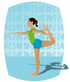 picture of natarajasana  - girl doing yoga  - JPG
