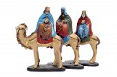 pic of melchior  - figures representing the three kings in a nativity scene on white background - JPG