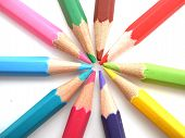 picture of blunt  - the pencils of different bright colors for arts - JPG