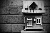 Black and White Birdhouse