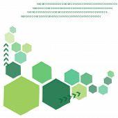 Green polygon technology background