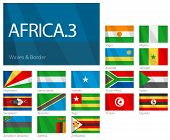 Waving Flags of African Countries - Part 3. World Flags Set.