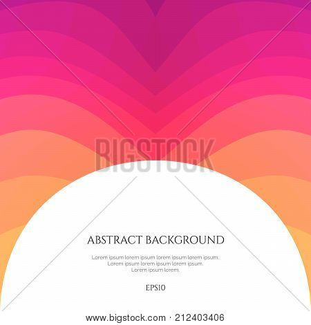 poster of Abstract background with curved lines. Specify the direction of the movement. Simple geometric shapes.