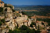 Ancient Medieval Hilltop Town Of Gordes In France poster