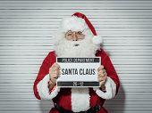 Santa Claus Mug Shot poster