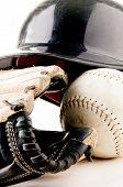 Baseball set closeup