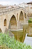 foto of gare  - romanesque bridge over river Arga - JPG