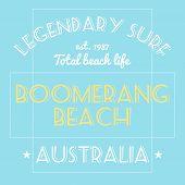 Australia Surfing T-shirt poster
