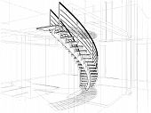 Abstract Spiral Staircases Co...