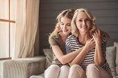Senior Mum And Adult Daughter poster