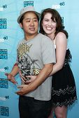 SANTA MONICA - JULY 14: Bobby Lee and Crista Flanagan at the Fox TCA Summer Party in Santa Monica, C