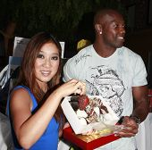 LOS ANGELES - JULY 15: Michelle Kwan and Terrell Owens at the 2008 ESPYs Giant Event in downtown Los