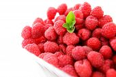 Raspberries With Mint