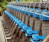 Large Sluice Gates At A Dam
