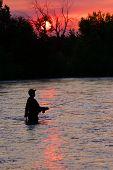 Boise River fly fisherman