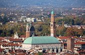 Vicenza City In Italy And Monument Called Basilica Palladiana. poster