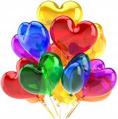 Heart shaped balloons party decoration