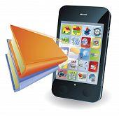 Smartphone Book Concept