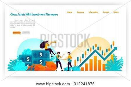 poster of Grow Asset Of Financial Investors With Market Investment Choices With Finance And Investment Manager