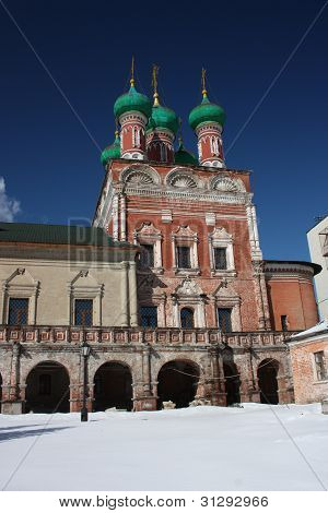 poster of Moscow. Highly Petrovsky Monastery. Temple of Saint Sergius