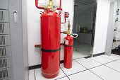 Fm-200 Suppression Systems, Fm200 Gas Flooding System, Gas Suppression System In Data Center Room poster