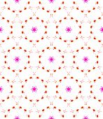 Pink Circles Seamless Pattern. Hand Drawn Watercolor Ornament. Amazing Repeating Design. Fetching Fa poster