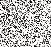 Floras seamless line vector wallpaper