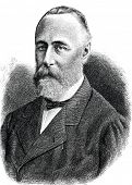 Mikhail Katkov - Russian writer, publisher and literary critic. Engraving by  Neumann. Published in magazine