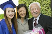 stock photo of late 20s  - Family at Graduation - JPG