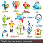 People community 3d icons. Vector design elements. Vol. 2