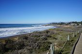 The Beautiful California Coastline A Little South Of San Francisco, And North Of Los Angeles. poster