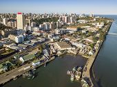 Aerial View Of Downtown Of Maputo, Capital City Of Mozambique, Africa poster