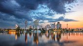 Vienna, Austria. Panoramic Cityscape Image Of Vienna Capital City Of Austria During Sunset. poster